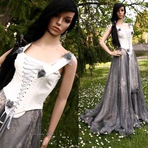 MEDUSA - gótikus menyasszonyi design ruha, Esküvő, Ruha, Menyasszonyi ruha, Egy igazi ruha-különlegesség alternatív esküvőre!  Mérete 36-40 Egyedi darab! Vásárlás előtt egyezte..., Meska