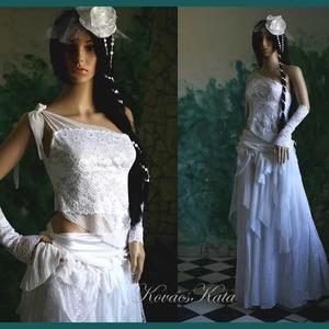 MARY - extravagáns menyasszonyi ruha, Esküvő, Menyasszonyi ruha, Ruha, Varrás, Meska