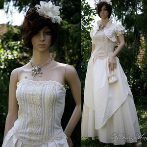 MAJA- vintage stílusú menyasszonyi design ruha - Meska.hu