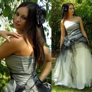 PRISCILLA - modern goth menyasszonyi ruha  - Meska.hu