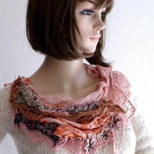 VERONA / rokokó - art to wear textilékszer - Meska.hu