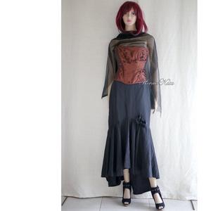 SZALAGOS MÍDER  - design fűző / bronzvörös - ruha & divat - női ruha - alkalmi ruha & estélyi ruha - Meska.hu