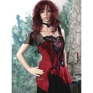 ROXANA - extravagáns design míder , Alkalmi ruha & Estélyi ruha, Női ruha, Ruha & Divat, Varrás, Egy igazi különlegesség a haute couture ruhák szerelmeseinek:\n\nEklektikus kreációm egy aszimmetrikus..., Meska