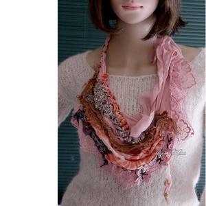VERONA / rokokó - art to wear textilékszer, Ékszer, Statement nyaklánc, Nyaklánc, Festett tárgyak, Varrás, Meska
