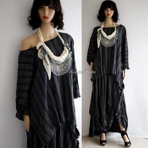 LUCA-SZETT - háromrészes artsy design ruha: szoknya + tunika + textilékszer - Meska.hu