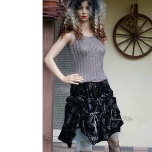 HEXE-SZOKNYA - artsy design bársony szoknya, Ruha & Divat, Női ruha, Alkalmi ruha & Estélyi ruha, Varrás, Meska