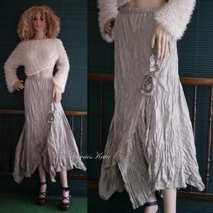 BOSZI-SZOKNYA - artsy hosszú-szoknya / homokszín, Ruha & Divat, Női ruha, Alkalmi ruha & Estélyi ruha, Varrás, Meska
