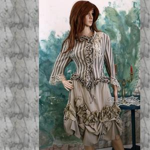 BETTINA - vintage design kétrészes ruha, Ruha & Divat, Női ruha, Blézer & Kosztüm, Varrás, Meska
