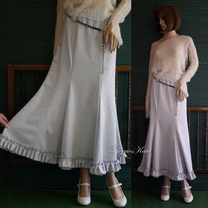 TÍMEA / ezüstszürke - romantikus, elegáns hosszú szoknya, Ruha & Divat, Női ruha, Szoknya, Varrás, Meska
