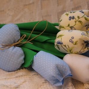 Egyedi kék tulipán csokor szett (Aranycerna) - Meska.hu