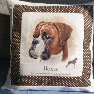 Boxer kutyusos párna (aranykezek) - Meska.hu