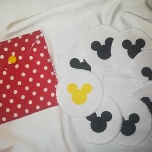 Mickey egeres  8 db-os arctisztító korong csomag tasakkal, NoWaste, Textilek, Pamut arctisztító, Varrás, Mindenmás, Újra és újra használható környezet barát arctisztító korongok. 40 fokon mosógépben mosható. Az ár ta..., Meska