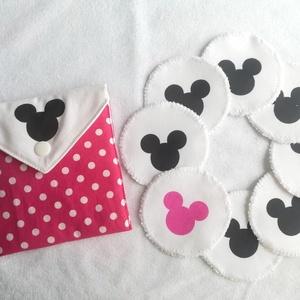 Pink Mickey fejes arctisztító korongok 8db-os, Szépségápolás, Arcápolás, Arctisztító korong, Varrás, Mindenmás, Meska