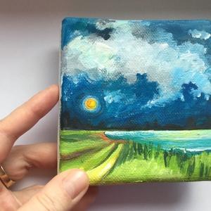 Mini Art / Festmény 10 x 10 cm, Képzőművészet, Otthon & lakás, Festmény, Akril, Napi festmény, kép, Festészet, Festett tárgyak, Mini Art festmény\nMéret: 10 x 10 cm\nAkril, vászon\n, Meska