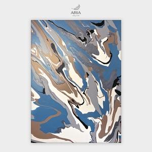 Kék márvány - modern akril festmény feszített vásznon, Otthon & Lakás, Dekoráció, Kép & Falikép, Festészet, Méret: 60×80 cm \nKézzel készült akril festmény, absztrakt stílusban, feszített vászonra.\nLélekmeleng..., Meska