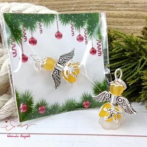Megvilágosodás narancssárga angyal 5 darabos csomag pedagógus karácsony mikulás szülinap névnap medál ajándékkísérő, Karácsony & Mikulás, Karácsonyi dekoráció, Ékszerkészítés, Gyöngyfűzés, gyöngyhímzés, 5 db narancssárga angyalka akryl virágból, színben hozzá illő gyöngyből, filigrán gyöngykupakokból é..., Meska