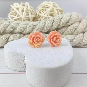 Apró púder rózsás antiallergén nemesacél acél fülbevaló tavaszi nyári ajándék nőnek lánynak hétköznapra esküvőre - Meska.hu