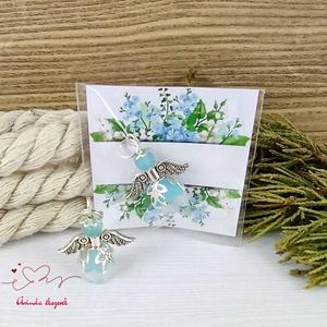 Hűség kék angyal 5 darabos csomag pedagógus karácsony mikulás szülinap névnap medál ajándékkísérő karácsonyfadísz - Meska.hu