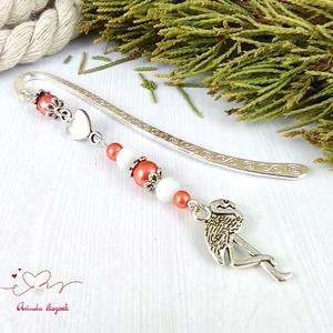 Narancs flamingó könyvjelző anyák napja ballagás évzáró pedagógus karácsony szülinap névnap könyvmoly ajándék - otthon & lakás - papír írószer - könyvjelző - Meska.hu