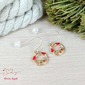 Malacka fülbevaló karácsonyra mikulásra télire adventi kalendáriumba nőnek lánynak - ékszer - fülbevaló - lógó fülbevaló - Meska.hu