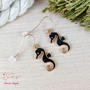 Csikóhal fülbevaló tavaszra nyárra nőnek lánynak - ékszer - fülbevaló - lógó fülbevaló - Meska.hu