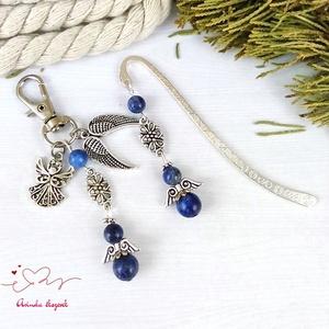 Lápisz lazuli lazurit angyalka könyvjelző kulcstartó szett pedagógus karácsony szülinap névnap - Meska.hu