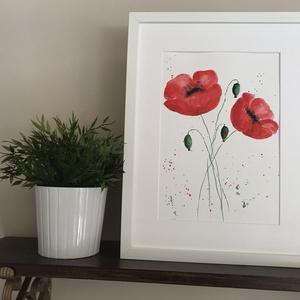 Akvarell pipacsok II. (ArnoldMonika) - Meska.hu