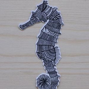 Matrica, Otthon & lakás, Képzőművészet, Naptár, képeslap, album, Fotó, grafika, rajz, illusztráció, Zentangle mintás mini matrica. Saját rajzból készült. \n\nKészült: 90gr-os, matt matrica papírból, ami..., Meska