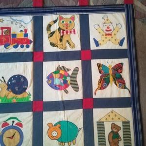 Artbag-Gyermekfalvédő, teljesen egyedi design, 21 féle  vidám képpel, Játék & Gyerek, Varrás, Egyedi desig gyermekfalvédő 21 db egyedi figurával,képpel. Moskató, b, élelt. Mérete:172x 78 cm\n+a f..., Meska
