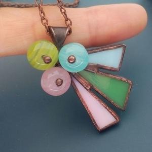 Pasztell színek összhangja üvegékszer medál, Ékszer, Nyaklánc, Medálos nyaklánc, Ékszerkészítés, Üvegművészet, Meska