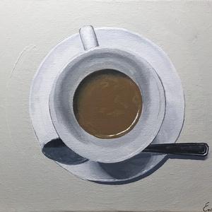 """Egy csésze kávé print A4, Művészet, Művészi nyomat, Fotó, grafika, rajz, illusztráció, """"Egy csésze kávé"""" c. festményem nyomata A4 méretben, szignózva.\nLap tulajdonságai: 300g/nm súly, mat..., Meska"""