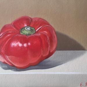 Kaliforniai Paprika, Művészet, Festmény, Napi festmény, Festészet, Eladásra kínálom kis méretű (20x24 cm) olajfestményem.\n\nLakkozva nincs, az körülbelül fél év múlva e..., Meska