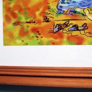 Bibliai illusztráció - Mózes a csipkebokor előtt - digitális nyomat keretben (Arteria) - Meska.hu