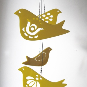 Sárga madaras mobil függődísz  (Arteria) - Meska.hu