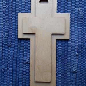 Kereszt formájú, angol nyelvű bibliai igés falidísz - Máté 28,20 (Arteria) - Meska.hu