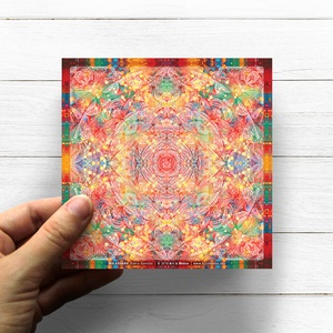 Gyökér Csakra Mandala matrica, Muladhara, Otthon & lakás, Képzőművészet, Dekoráció, Fotó, grafika, rajz, illusztráció, Csakra Mandala sorozatomat digitális rajzolással hoztam létre, mely részletesen kidolgozott vonalakb..., Meska