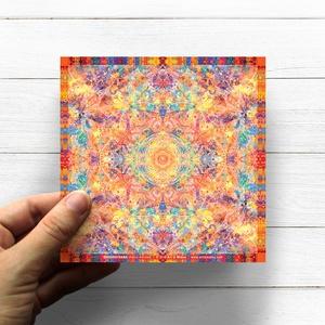Szakrális Csakra Mandala matrica, Svadhistana, Otthon & lakás, Képzőművészet, Dekoráció, Fotó, grafika, rajz, illusztráció, Csakra Mandala sorozatomat digitális rajzolással hoztam létre, mely részletesen kidolgozott vonalakb..., Meska