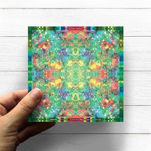 Szív Csakra Mandala matrica, Anahata, Otthon & lakás, Dekoráció, Képzőművészet, Fotó, grafika, rajz, illusztráció, Csakra Mandala sorozatomat digitális rajzolással hoztam létre, mely részletesen kidolgozott vonalakb..., Meska