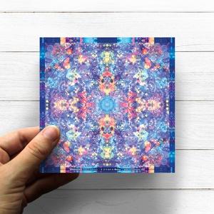 Torok Csaka Mandala matrica, Vishuddha, Otthon & lakás, Képzőművészet, Dekoráció, Fotó, grafika, rajz, illusztráció, Csakra Mandala sorozatomat digitális rajzolással hoztam létre, mely részletesen kidolgozott vonalakb..., Meska