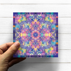 Harmadikszem Csakra Mandala matrica, Ajna, Otthon & lakás, Dekoráció, Képzőművészet, Fotó, grafika, rajz, illusztráció, Csakra Mandala sorozatomat digitális rajzolással hoztam létre, mely részletesen kidolgozott vonalakb..., Meska