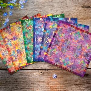 Csakra Mandala matrica csomag / harmadikszem, koronacsakra, szakrális, napfonat / spiritualitás, jóga, alternatív, Otthon & Lakás, Dekoráció, Mandala, KÜLÖN IS RENDELHETŐEK! ///  Méret: 12 x 12 cm  1-2 munkanap alatt postázásra kerül, vagy személyesen..., Meska