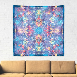 Torok Csakra mandala textil / falidekoráció / terítő / pamuttextil / jógaszobába / meditációhoz / függöny, Otthon & lakás, Dekoráció, Gobelin, Fotó, grafika, rajz, illusztráció, Csakra Mandala sorozatom utolsó pamut textil darabjait mutatom be. Digitálisan rajzoltam meg minden ..., Meska