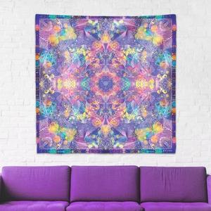 Harmadik szem Csakra mandala textil / falidekoráció / terítő / pamuttextil / jógaszobába / meditációhoz / függöny, Otthon & lakás, Dekoráció, Gobelin, Fotó, grafika, rajz, illusztráció, Csakra Mandala sorozatom utolsó pamut textil darabjait mutatom be. Digitálisan rajzoltam meg minden ..., Meska