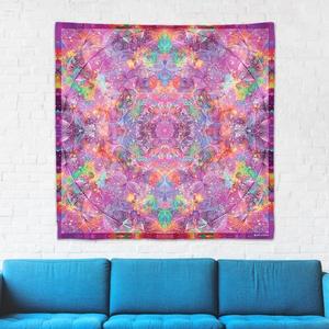 Korona Csakra mandala textil / falidekoráció / terítő / pamuttextil / jógaszobába / meditációhoz / függöny, Otthon & lakás, Dekoráció, Gobelin, Fotó, grafika, rajz, illusztráció, Csakra Mandala sorozatom utolsó pamut textil darabjait mutatom be. Digitálisan rajzoltam meg minden ..., Meska