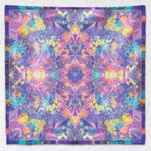 Harmadik szem Csakra mandala textil / falidekoráció / terítő / pamuttextil / jógaszobába / meditációhoz / függöny, Otthon & Lakás, Dekoráció, Mandala, Fotó, grafika, rajz, illusztráció, Csakra Mandala sorozat készül a hét csakrához. Ezek közül ez a homlok csakráé, mely egyben a harmad..., Meska