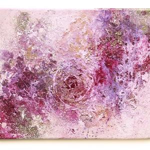 Absztrakt festmény, Művészet, Festmény, Festmény vegyes technika, Festészet, A kép mérete 30 x 25 cm\n\nVászonra készült festmény festékszóró és üvegfesték használatával.\n\nA képen..., Meska