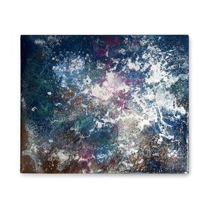 Absztrakt festmény, Művészet, Festmény, Festmény vegyes technika, Festészet, A kép mérete 30 x 25 cm\n\nVászonra készült festmény festékszóró és víz használatával.\n\n\n\n..., Meska
