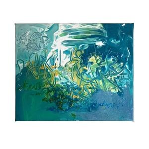 Absztrakt festmény, Művészet, Festmény, Festmény vegyes technika, Festészet, A kép mérete 30 x 25 cm\n\nVászonra készült festmény akril és üvegfesték használatával.\n\nRészletesebb ..., Meska