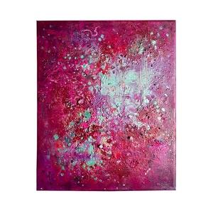 Absztrakt festmény , Művészet, Festmény, Festmény vegyes technika, Festészet, A kép mérete 25 x 30 cm\n\nVászonra készült festmény akril használatával.\nA festménybe applikáltam gyö..., Meska
