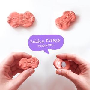 BOLDOG AGY ( elme ) és KISAGY ( tudatalatti ) - kerámia hűtőmágnes / dísz, kabala / depresszió ellen, nevetés, vicces - Meska.hu